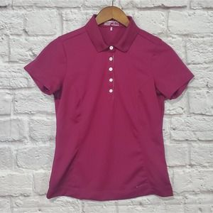 Nike Golf Fit Dry Maroon Athletic Polo Shirt